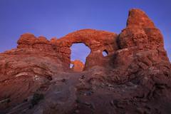 Scarlet Turret (Explored) (Ramen Saha) Tags: turretarch archesnationalpark nationalpark utah dusk ramensaha sandstone arch windowssection