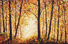 Autumn forest painting Collection of designer oil painting. Decoration for interior. Modern art. Set of paintings orange gold watercolor (Painting by Rybakow) Tags: autumn autumnforest decorative background fantasy triptych violet leaves garden drawing creative office beautiful spring nature blossom pink paintings flowers botanical flora artwork rose yellow romantic design collection home illustrations illustration graphic wallpaper artistic floral canvas watercolor colorful interior oil modern acrylic art original set texture flower painting