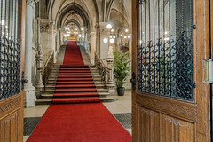 The city hall in Vienna (a7m2) Tags: rathaus vienna cityhall feststiege events ballroom monarchy colorfultracerywindows bürgermeister stadtregierung mayor building