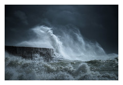 Newhaven Harbour / September 29th (Edd Allen) Tags: newhaven harbour newhavenharbour sea seaside coast coastal waves storm rain clouds moody atmosphere atmopsheric ethereal serene bucolic nikond810 nikkor70200mm england uk southcoast southeast eastsussex landscape seascape impact summer