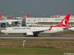 TURKISH AIRLINES B737 TC-JVF (Adrian.Kissane) Tags: 737 boeing airline airliner jet plane aircraft aeroplane turkey aviation airport runway departing sky outdoors 42008 942018 b737 tcjvf ataturk istanbul turkish