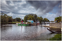 Storm Clouds (clive_metcalfe) Tags: christchurch dorset uk england river riverstour flooded water ferry trees clouds boats