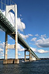 SPANNING THE BAY (MIKECNY) Tags: newport rhodeisland span bridge newportbridge narragansettbay water