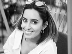 summer smile (judydeanclasen) Tags: earring cafe beautiful düsseldorf mono shades sunglasses smile teeth