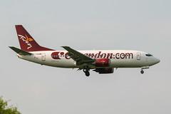 TC-TJB (PlanePixNase) Tags: aircraft airport planespotting paris cdg lfpg charlesdegaulle roissy corendon boeing 737 b733 737300