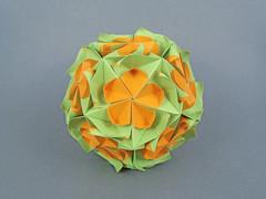 Orama (masha_losk) Tags: kusudama кусудама origamiwork origamiart foliage origami paper paperfolding modularorigami unitorigami модульноеоригами оригами бумага folded symmetry design handmade art