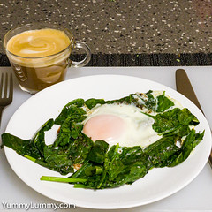 Egg Spinach Cheese Coffee (garydlum) Tags: cheese coffee egg eggs spinach