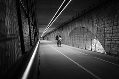 Under The Bridge II (lja_photo) Tags: luxembourg city ourluxembourg visitluxembourg street photography structure white exploration exposure travel tourism textures urban illuminated outdoors outdoor one person people architecture architectural art abstract artificial arch shadows dramatic fine fuji xt20 light contrast cityscape visiteluxembourg black bw bnw blackandwhitephoto building bridge backlight monochrome monotone monoart moody mood citylife cycling sports sport adolphebridge streetphotography