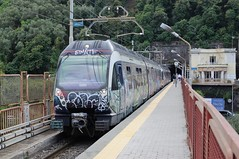 ERT-222-Seiano-Italy-23-9-2019 (D1021) Tags: ert222 emu metergauge seiano seianostation italy italianrailway d300 nikond300