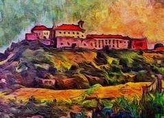 The castle in Uzhgorod. Ukraine (V_Dagaev) Tags: castle uzhgorod ukraine fortress building art architecture landscape painterly painting painter paintingsfromphotos paint digital dynamicautopainter visualdelights