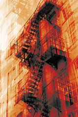 Ghostly (Peter Rea XIII) Tags: art architecture artistsontumblr abstract ancoats biutifulpics building city cameraraw d300s design decay experimental gradient imiging industrial lensblr lightisphotography luxlit manchester multipleexposure metal fire escape nikon northern quarter originalphotographers originalphotography photographersontumblr peterreaphotography photography pws p58 red submission streetphotography street telescopical triple urban xonicamagazine ycphotographs cityartistsfreeart