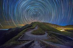 合歡山~瑪雅平台星軌~ Mt. Hehuan Startrails (Shang-fu Dai) Tags: 台灣 taiwan nantou 南投 合歡山 mthehuan 星軌 彩色星軌 startrails nikon d800e samyang14mmf28 3417m 主峰 formosa nightscene starry happyplanet asiafavorites