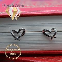 Boucles d'oreilles cœur entrecroisés (olivier_victoria) Tags: argent 925 boucles zircon coeur oreilles entrecroisé