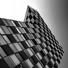 Ultimate Chess III (s.W.s.) Tags: rotterdam holland netherlands europe architecture architectural abstract building windows chess urban city blackandwhite lookup nikon lightroom