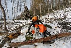 vedhogst (KvikneFoto) Tags: nikon1j2 snø snow arbeid work stihl motorsag chainsaw