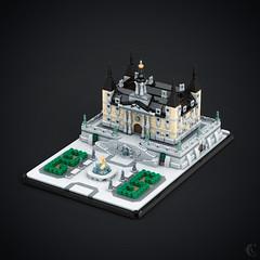 16Ith Century Mansion (Corvus Auriac MOCs) Tags: lego moc art architecture renaissance buidling afol design bricks 16th century mansion palace microscale