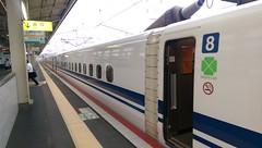 IMAG2169 Shinkansen (drayy) Tags: trip travel holiday japan himeji hyogo hyougo castle himejicastle train shinkansen bullettrain nozomi 日本 兵庫 兵庫県 姫路 城 姫路城 庭