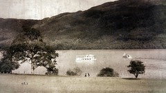 old loch lomond vanagart 2019 jpg (vanagART) Tags: lakelochlomond lochlomond scotlandlakes scotland scottishhighlands oldphoto vintagephoto monochrome prints photoartprints art wallart artforsale printsforsale originalimage mountains hills travel tripboats people trip deepwater professionalphotography