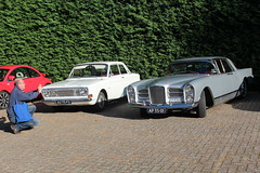 1968 Ford Taunus 12M P6 and 1959 Facel Vega Excellence (Davydutchy) Tags: trn tatra register nederland najaarsrit annual rally herbsttreffen rit rondrit ride bosschenhoofd noordbrabant brabant netherlands niederlande paysbas holland classic klassiek klassiker oldtimer car auto automobiel automobile pkw voiture vehicle bil avto facel vega excellence ford taunus 12m p6 communism socialism eatern european september 2019
