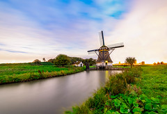first shot with 14 mm samyang (kaveh zabihi) Tags: delft rijswijk windmill netherlands nuture colorful longexposure nightphotography photography river reflection countryside nikkor outside historic colours colour camera old