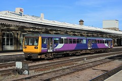 Northern Class 142 142019 (Adam Fox - Plane and Rail photography) Tags: train uk railway railroad arriva trains sheffield shf mml midland main line mainline dmu diesel multiple unit br british rail railways passenger pacer railbus