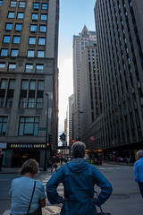 Wait for crossing (jcbmac) Tags: passionphotography windycity street chicago citylandscape buildings standing urbanphotography fujifilm blue skyscraper pathforpeople xt20 staring fuji streetphotography fujifilmxt20 walking crossing urban city