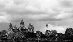 Moody temple (unsharptooth) Tags: blackandwhite landscape cambodia moody cloudy angkorwat siemreap landscapephotography angkorarchaeologicalpark angkor ngc happyplanet asiafavorites