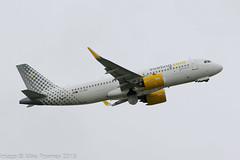 EC-NAF - 2018 build Airbus A320-271N, departing from Runway 05L at an overcast Manchester (egcc) Tags: 8468 a320 a320271 a320271n a320neo airbus ecnaf egcc lightroom man manchester neo ringway sharklets vlg vy vueling vuelingairlines vuelingcom