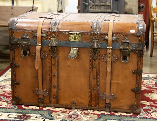 Leather trunk ($392.00)