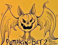 Pumpkin Bat version 2 (CharlesWaltermyer) Tags: halloween bat vampire pumpkin jack o lantern haunted halloweenart