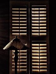 Morning light (Bob R.L. Evans) Tags: lightandshadow composition lamp unique vintage shutter elegant simple pattern ipad