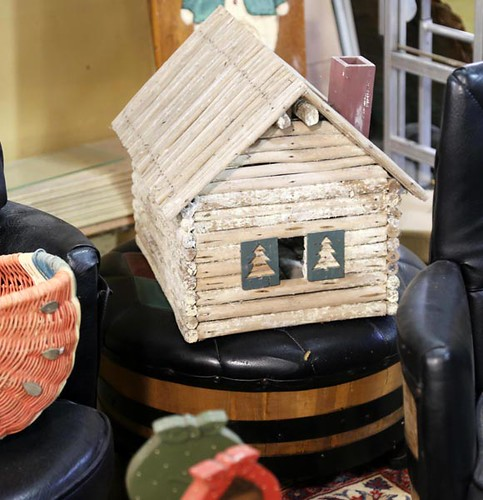 Log Cabin Bird House ($112.00)