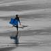 Running to surf