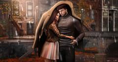 The Rain Breeze (meriluu17) Tags: zenith couple breeze rain rainy wind weather autumn warmth fall sweater raindrops love lovely them peace hide coat