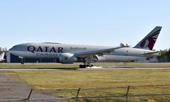 Qatar A7-BFP, OSL ENGM Gardermoen (Inger Bjørndal Foss) Tags: a7bfp qatar boeing 777 cargo osl engm gardermoen