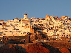 Sunset over Oia (jeff.dugmore) Tags: greece santorini aegean cyclands greek serene ocean travel architecture outdoor outside greekislands thira windmill olympus sky sea oia europe sunset tranquil scenic golden goldenhour
