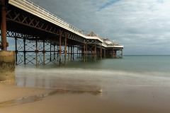 Cromer Pier (wells117) Tags: cromerpier beach clouds concret cromer daytime frame framework horizionmetal lowtide metalwork nopeople northsea outdoors outside pier railings sand sea sky smooth structure water