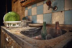 "The ""weight"" of time (JG - Instants of light) Tags: kitchen untoutched dishwasher bottles tiles cobwebs dust rust abandoned forgotten decay cozinha intocado lavalouças garrafas azulejos teiasdearanha poeira ferrugem abandonado esquecido decadência urbex exploraçãourbana fotografiaurbex mundoperdido salvardecadência decadênciaepassado mundosombrio urbanexploration urbexphotography lostworld savedecay decayandpast darkworld nikon d5500 sigma 1020 portugal"