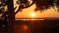 (zedspics) Tags: szentmihálykápolna balaton magyarország hungary hongarije ungarn plattensee sunset autumn fall zedspics 1909 lensflare
