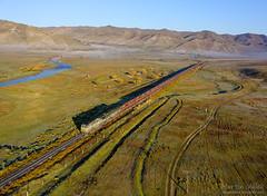 2TE116-1585 UBTZ/RŽD, Shatang - Mandal (Mongolia) (Martin Válek) Tags: mongolsko mongolei rail railway railroad train locomotive zug eisenbahn vlak železnice transmongolianrailway ulaanbaatarrailway kharaa
