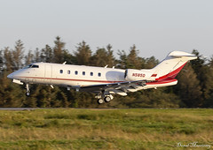 Dupont Aviation Challenger 300 N585D (birrlad) Tags: shannon snn international airport ireland aircraft aviation airplane airplanes bizjet private passenger jet arrival arriving approach finals landing runway n585d bombardier bd1001a10 challenger 300 cl30 dupont