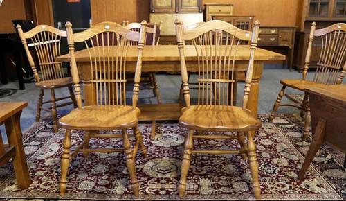 Set of 6 Oak chairs ($476.00)