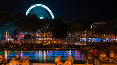 Budapest Summer Nights (BenedekM) Tags: nikon nikond3200 d3200 sigma sigma1750f28 nights pest youngfolks street akvarium squere summer 2019 budapest2019 water people budapesteye deakferencsquare longexposure nightlife citylife citymoments