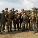 U.S. & service members of the Malaysian Armed Forces stand united before the start of exercise Tiger Strike
