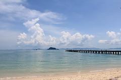 wanderlust (°andre²a°) Tags: canon sea beach thailand water sky clouds horizon blue