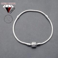 Bracelet maille serpent avec fermoir charms rectangle en argent 925 (olivier_victoria) Tags: argent 925 bracelet chaine charms serpent fermoir charme