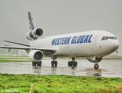 WESTERN GLOBAL MD-11 N546JN (Adrian.Kissane) Tags: aviation ireland airline jet plane freighter aircraft aeroplane taxing ramp airport arriving sky outdoors n546jn 48546 3092019 md11 cargo shannonairport shannon westernglobal