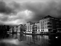 Storm Over Brentford (dominicirons) Tags: brentford westlondon middx middlesex local blackwhite blackandwhite canal storm clouds stormy grandunioncanal
