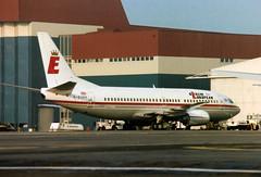 G-EURR Boeing 737-3L9 cn 23717 ln 1365 Berlin European UK Luton 30Mar90 (kerrydavidtaylor) Tags: ltn eggw bedfordshire londonlutonairport boeing737 boeing737300