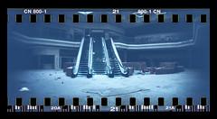 img254 (Rachel Semanski - RayRayProPhoto) Tags: film 35mm analog photography sprocket rocket sprockets panorama abandoned deadmall dead mall northridge